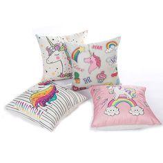 Cute Unicorn Rainbow & Pastels Cushion Cover