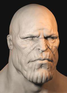 Thanos Sketch, Dave Whitaker on ArtStation at https://www.artstation.com/artwork/LKvbl