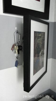 DIY Storage Ideas - Hidden Key Storage - Home Decor and Organizing Projects for. DIY Storage Ideas - Hidden Key Storage - Home Decor and Organizing Projects for The Bedroom, Bathroom, Living Room, Panty and Storage Proje. Key Storage, Secret Storage, Entryway Storage, Extra Storage, Organized Entryway, Entryway Ideas, Garage Storage, Ikea Entryway, Organized Garage