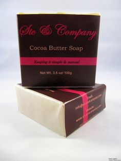 My cocoa butter soap from my signature line www.stcandcompany.com