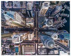 Dubai City by drone photography