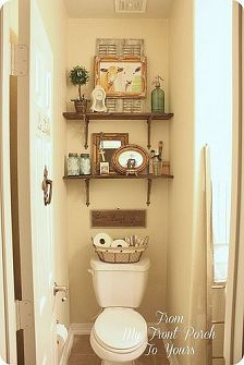 Looking for half bathroom ideas? Take a look at our pick of the best half bathroom design ideas to inspire you before you start redecorating. Half bath decor, Half bathroom remodel, Small guest bathrooms and Small half baths Half Bath Decor, Half Bathroom Decor, Bathroom Ideas, Bathroom Storage, Guest Bathrooms, Bathroom Shelves, Half Bathrooms, Parisian Bathroom, Restroom Ideas
