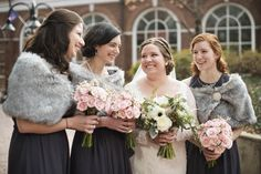 Wedding pictures at Omni Hotel Downton Mall in Charlottesville, Virginia | Bridesmaid pictures