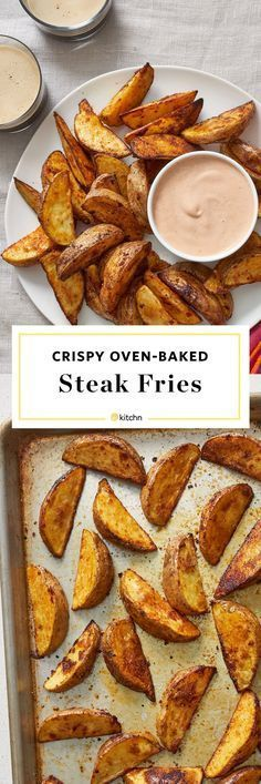 Crispy Oven Baked Steak Fries