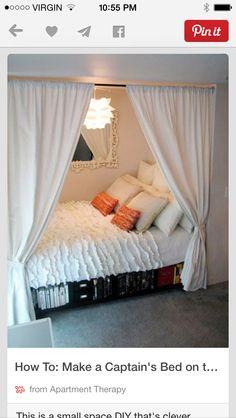 I love this alcove bed arrangement