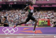 The Greatest 800m ever!  David Lekuta Rudisha of Kenya (WR 1.40.91  Nijel Amos Botswana (New Junior World Record)  Timothy Kitum of Kenya (PB)  Duane Solomon of USA (PB)  Nick Symmonds of USA (PB)  Mohammed Aman of Ethiopia (National Record)  Abubaker Kaki of Sudan (Seasons Best  Andrew Osagie of GB (PB)   Osagie's time of 1:43.77 is a world record for the 8th-placed finisher in an Olympic 800m final. It would have won him the gold medal at the last three Olympics.