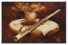 Smooth-Espresso Steven D. Coffee Uses, I Love Coffee, Coffee Art, Coffee Painting Canvas, Painting Art, Chocolate Beer, Pyrography Designs, Cafe Wall, Wine Art