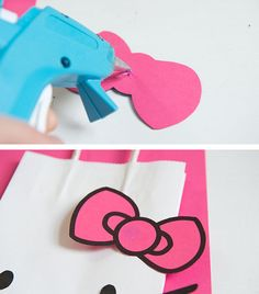 Leave a lasting impression with easy DIY Hello Kitty favor bags. Diy Hello  Kitty Birthday d9be4cc97e74f