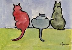 Cats by Marion Bermondy