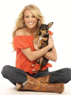 Carrie Underwood and her dog Ace