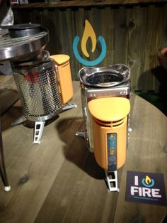 Overland Tech & Travel at Outdoor Retailer, day1: BioLite stove burns wood and generates electricity. We'll be testing.
