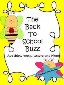Back To School Teacher Time Saver Resource Book: The Back To School Buzz Back To School Activities, Teaching Activities, School Resources, Teaching Kids, School Ideas, Back To School Teacher, Meet The Teacher, School Boy, School Stuff