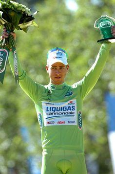 Peter Sagan (Liquigas) winner of the Green jersey