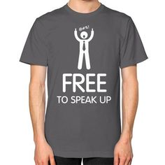 Freedom To Speak Up Men's T-shirt, American Apparel T-shirt/custom t-shirt, Interpersonal tees, public speaker tee (White Icon) Funny Tees, Funny Tshirts, Superhero Man, Praise The Sun, Mugs For Men, Custom Tees, American Apparel, Freedom, Man Shop