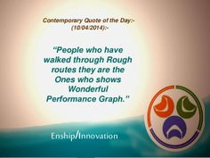 Contemporary Quote of the Day:- (10/04/2014):- by Enship/Innovation via slideshare