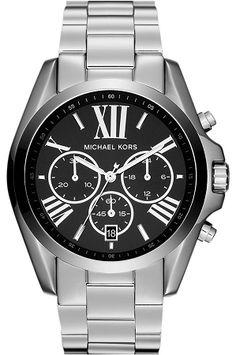 Michael Kors 'Bradshaw' Chronograph Bracelet Watch available at Bvlgari Watches, Armani Watches, Luxury Watches, Sport Watches, Watches For Men, Wrist Watches, Men's Watches, Waterproof Watch, Stylish Watches