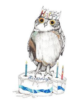 Картинки на день рождения с совами