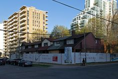 20140513. The sun has set on these houses at Redpath and Roehampton. Yet another condo will rise near Yonge and Eglinton in Toronto.