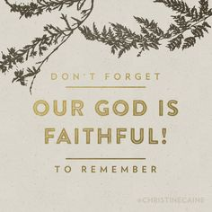 Our God IS FAITHFUL!