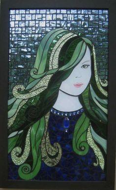 """""""Beatrice"""" Stained glass mosaic by Glenys Fentiman"""