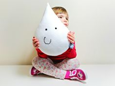 ☂ Welcome to ☂ Decorative white Raindrop shaped cushion / pillow. This listing is for a white raindrop but it can be made in any. Crafty Fox, White Cushions, Cushion Covers, Cushion Pillow, Black Kids, Child Safety, Rain Drops, Kid Spaces, Kids Bedroom