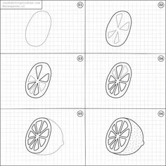 How to draw a lemon.