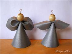 -maijun- tekeleitä: Lenteleviä Decorative Bells, Diy And Crafts, Ornaments, Christmas, Angels, Home Decor, Sewing, Leather, Jewelry
