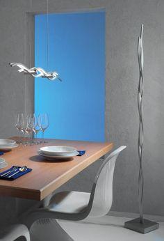 Escale Silk Stehleuchte Aluminium geschliffen (rechts)