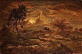 Sunset at Arbonne, Rousseau