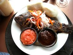 Ghana-style Grilled Tilapia and Banku - It's so good!