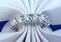 circular diamond eternity band