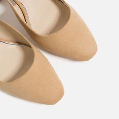 Image 7 of HIGH HEEL SLINGBACK SHOES from Zara White Pumps, Nude Pumps, Slingback Shoes, Flats, Zara, Heeled Mules, High Heels, Inspire, Women