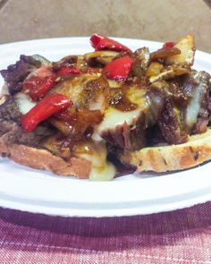 Mongolian Beef Cheesesteak Sandwich | Flavor Mosaic | Asian stir fry meets Philly Cheesesteak.  A yummy marriage of flavors.