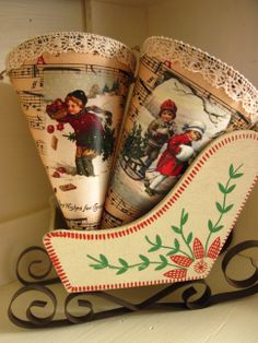 Christmas cornets Mugs, Canning, Tableware, Christmas, Dinnerware, Navidad, Cups, Tumbler, Dishes