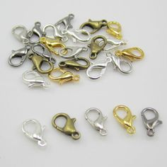 NEW 30pcs Mixed Colors Jewelry Findings Lobster Trigger Claw Clasps Connectors Free Shipping by Chasingdreams97 on Etsy