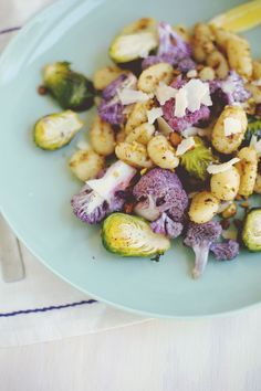 Honey-roasted veggies + gnocchi
