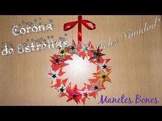 Corona de Navidad de estrellas  Viernes de papel – Videotutorial DIY  