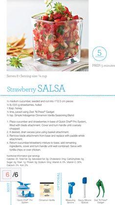 Strawberry Salsa Recipe via Tupperware  Order items online at my2.tupperware.com/bobbiormond