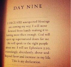I declare... Unexpected blessings