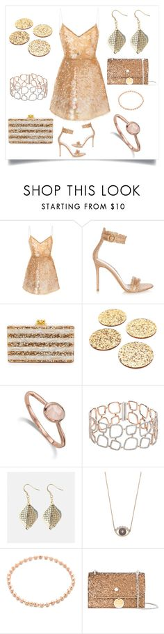 """Sequinned Party Dress..**"" by yagna ❤ liked on Polyvore featuring Monique Lhuillier, Gianvito Rossi, Edie Parker, Kate Spade, Monica Vinader, Avenue, Kenzo, Gabriela Artigas and Jimmy Choo"