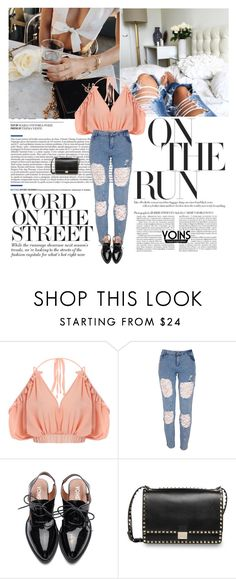 """""""13/02/2017 Yoins (5/10)"""" by dunoni ❤ liked on Polyvore featuring Valentino, yoins, yoinscollection and loveyoins"""