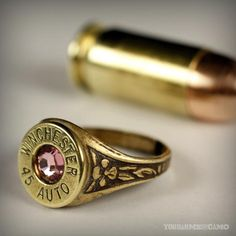 Win 45 Auto Bullet Ring by Center Fire Jewelry