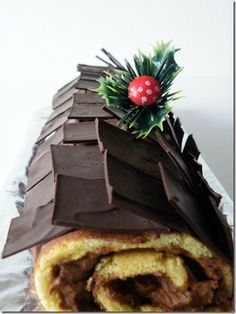 Tronc de Nadal (Christmas Roll Log) with Chocolate layers by Gourmenderies made in 2010. Catalonia