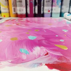 """""""Strawberry Sorbet"""" when the paint was still wet"""