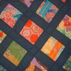 I am in love with Japanese fabric. This is such a simple pattern with stunning results