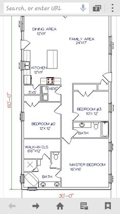 Barn House Workable Floor Plan Add Huge Garage Shop To End Where Washroom Is Open Up The One Bedroom At End Of Family Room To Make It A Playr