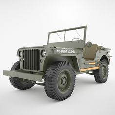 Jeep Willys Model available on Turbo Squid, the world's leading provider of digital models for visualization, films, television, and games. Cj Jeep, Jeep Cj7, Jeep Truck, Jeep Wrangler, Jeep Gear, Willys Mb, 4x4, Military Jeep, Military Vehicles