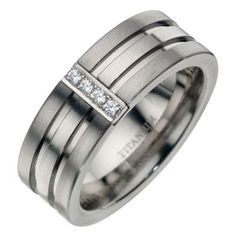 Anium Diamond Double Groove Ring H Samuel The Jeweller Get Into