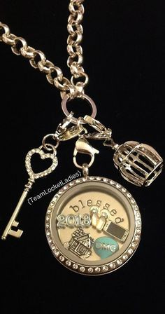 OMG, silver locket, NEW bird cage dangle, and NEW heart key dangle