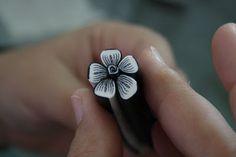 Récréation Fimologique - AB.Création: Tuto : Canne fleur sans contour